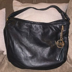 Michael Kors Black Travel Continental Leather